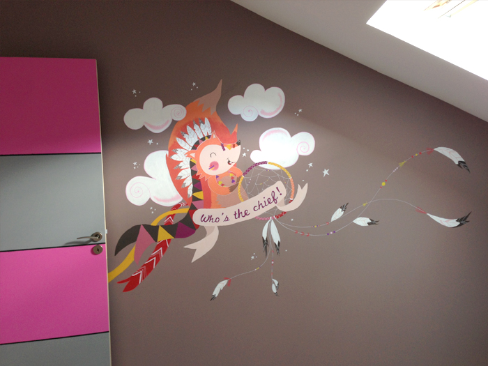 Excellent Fresque Chambre D With Dessin Mural Chambre Fille